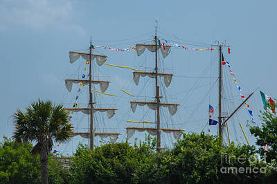Photograph - Tall Ship Mast Charleston  by Dale Powell