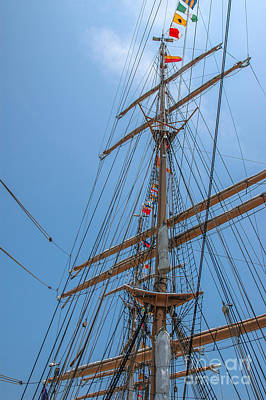 Photograph - Tall Ship Mast Charleston Sc by Dale Powell
