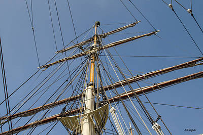 Photograph - Tall Ship Mast Rigging by Allen Sheffield