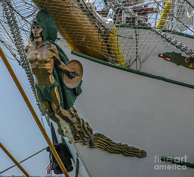 Photograph - Tall Ship Masthead - Cisne Branco - Brazilian Tall Ship by Dale Powell