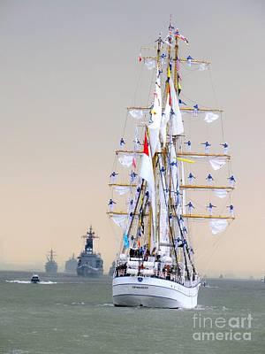 Photograph - Tall Ship-naval Ships by Ed Weidman