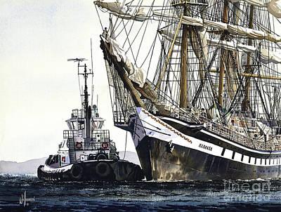 Tall Ship Pallada Art Print by James Williamson