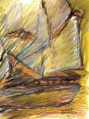 Tall Ship Mixed Media - Tall Ship by Patrick Humphreys