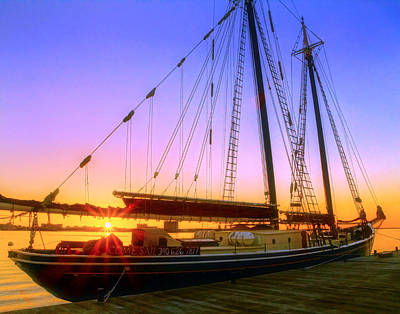 Photograph - Tall Ship Roseway 003 by Jeff Stallard