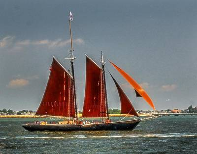 Photograph - Tall Ship Roseway 004 by Jeff Stallard
