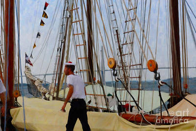 Digital Art - Tall Ship Sailor  by Dale Powell