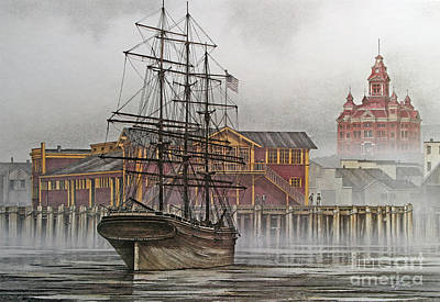 Tall Ship Waterfront Print by James Williamson