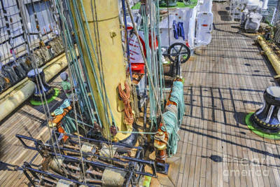Photograph - Tall Ship Winch by Dale Powell
