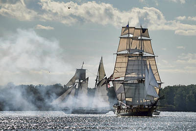 Tall Ships  Art Print by Ann Bridges