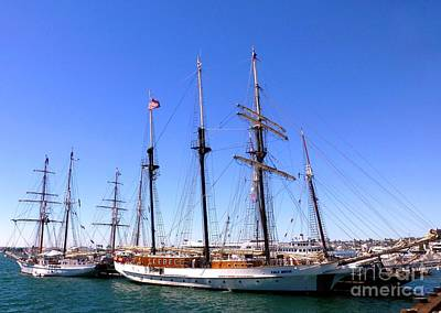 Photograph - Tall Ships Big Bay by Barbie Corbett-Newmin
