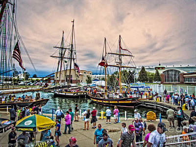 Digital Art - Tall Ships Celebration by Kathryn Strick