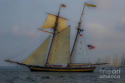Tall Ships In The Lowcountry Art Print by Dale Powell