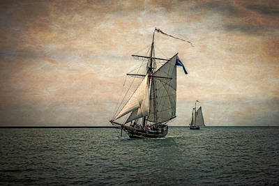 Altered Photograph - Tall Ships Festival, Digitally Altered by Rona Schwarz