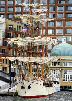 Photograph - Tall Ships In Boston by Caroline Stella
