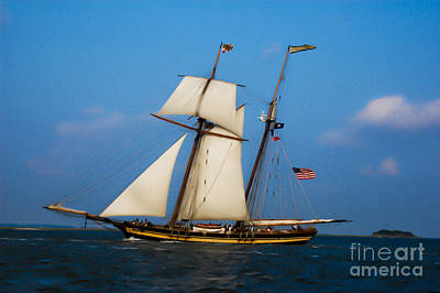 Tall Ships Over Charleston Art Print by Dale Powell