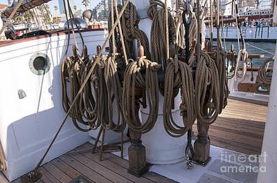 Photograph - Tall Ship's Rigging by Brenda Kean