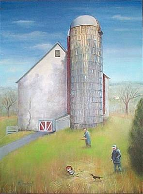 Painting - Tall Silo by Oz Freedgood