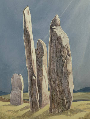 Historic Site Painting - Tall Stones Of Callanish Isle Of Lewis by Evangeline Dickson