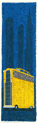 Tall Taxi Art Print by Brian James