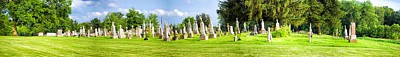 Tall Tombstones Panorama Art Print by Thomas Woolworth