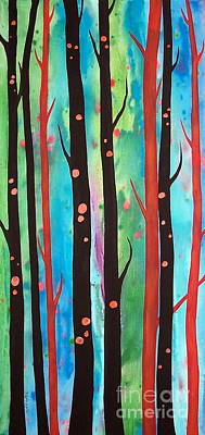 Rust Painting - Tall Trees by Karla Gerard