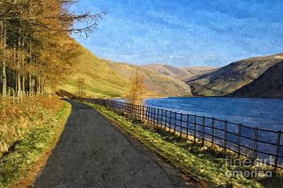 Talla Reservoir Scottish Borders Photo Art Art Print
