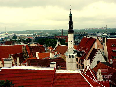 Photograph - Tallinn Estonia Skyline by John Potts