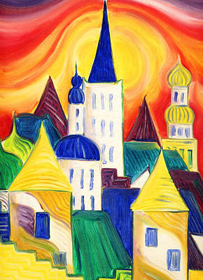 Tallinn Print by Kate Shannon