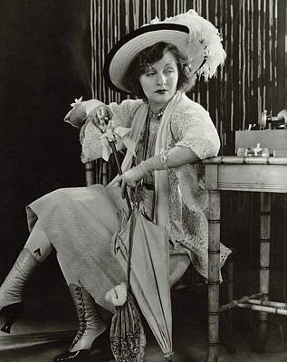 Rain Hat Photograph - Tallulah Bankhead As Sadie Thompson In Rain by Lusha Nelson