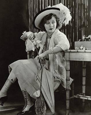 Cross Legged Photograph - Tallulah Bankhead As Sadie Thompson In Rain by Lusha Nelson