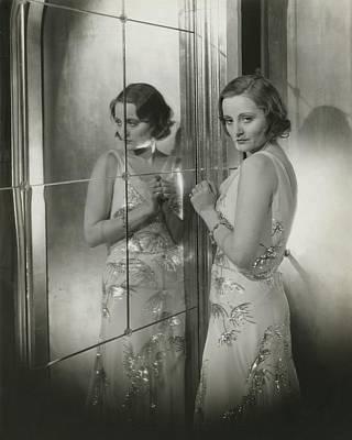 Chiffon Photograph - Tallulah Bankhead In A Chiffon Dress by Cecil Beaton