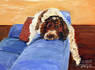 Featured Tapestry Designs - Tallulah Queen of the Couch by Rochelle Koopmann