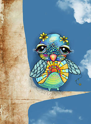 Cute Cards For Kids Painting - Tallulah Sunshine by Karin Taylor