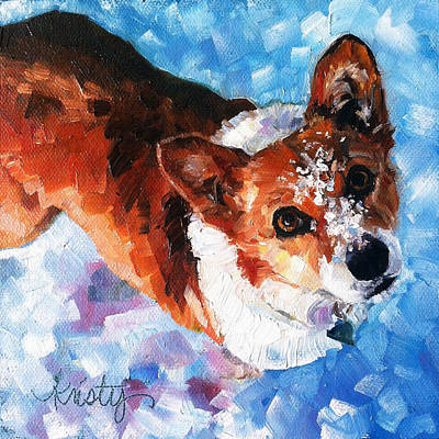 Tally In The Snow Art Print by Kristy Tracy