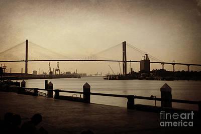Digital Art - Talmadge Memorial Bridge by Valerie Reeves