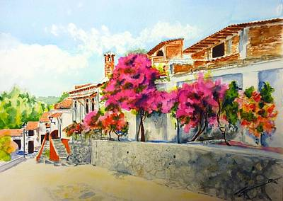 Wall Art - Painting - Talpalpa A Walk With A View by Sonia Mocnik