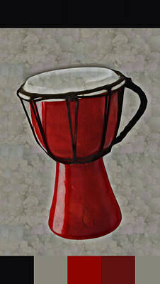 Digital Art - Tam Tam Djembe - S01glfr1b3 by Variance Collections