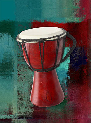 Digital Art - Tam Tam Djembe - S03ab02 by Variance Collections