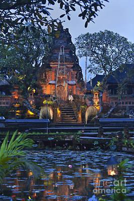 Taman Saraswati Temple Bali Art Print