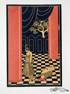 Interior Scene Painting - Tamara Karsavina by Georges Barbier