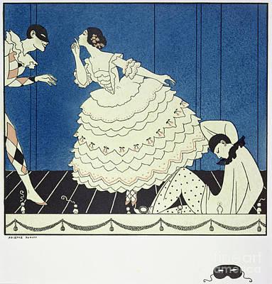 Tamara Karsavinaas Columbine Art Print by Georges Barbier
