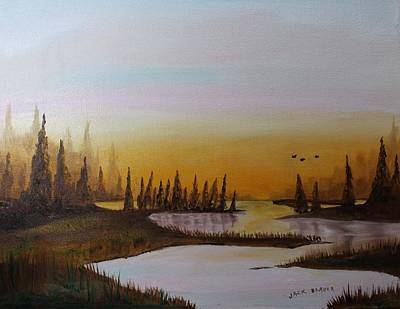 Painting - Tamarack Marsh by Jack G  Brauer