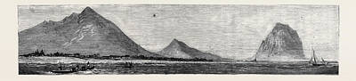 Tamarind Bay, With The  Morne Rock, Once The Hiding-place Art Print by English School