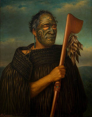 Axes Painting - Tamata Waka Nene by Mountain Dreams