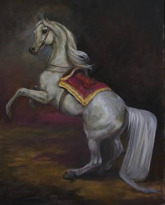 Tamerlan Napoleon's Stallion Art Print by Zan Economopoulos