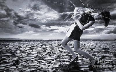 Digital Art - Taming The Lightning by Evgeniy Lankin