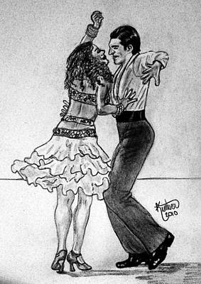 Drawing - Taming The Tango by Kimber  Butler