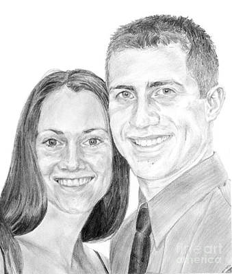Drawing - Tamir And Sarah by Tamir Barkan