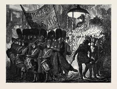 Tammany Democratic Procession In New York Art Print