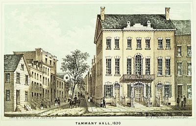 Tammany Painting - Tammany Hall, 1830 by Granger